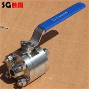 三段式高压焊接/螺纹球阀 不锈钢圆钢球阀